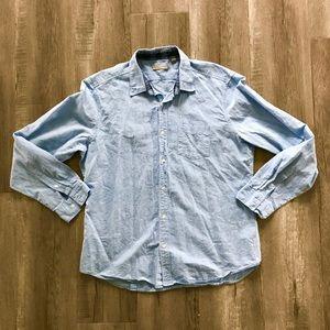 Linen Burberry dress shirt